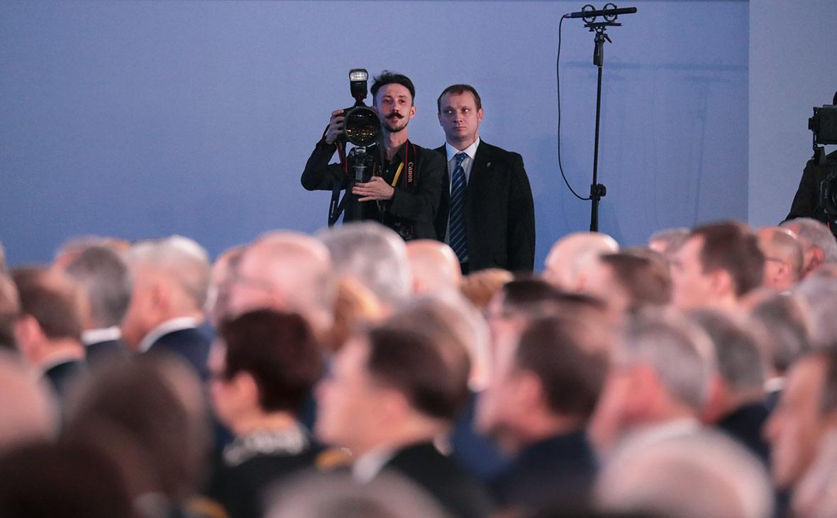 Во время выступления Владимира Путина перед Федеральным собранием
