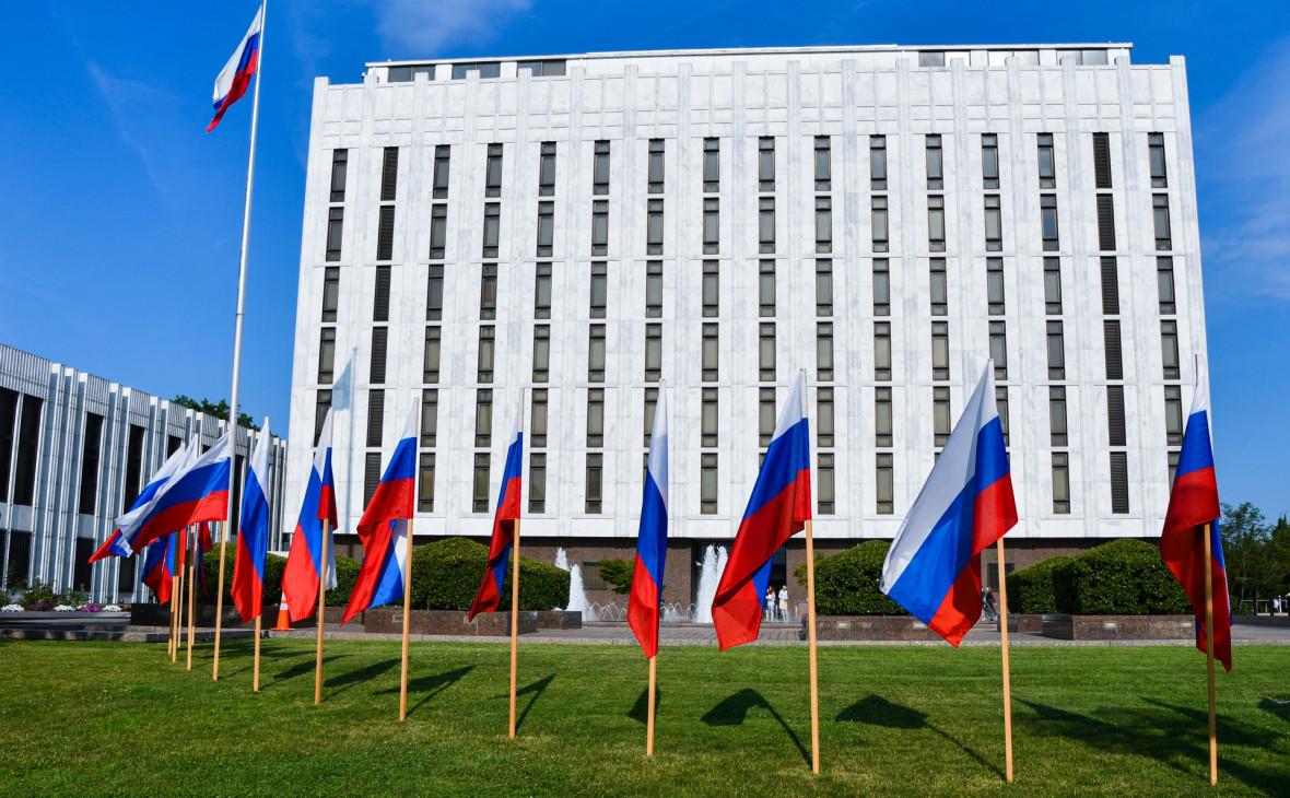 Здание российского посольства в Вашингтоне