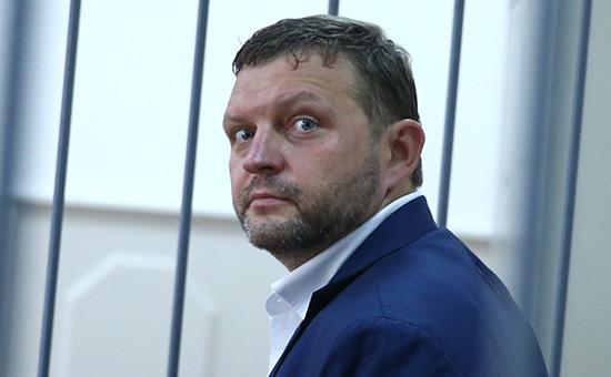 Губернатор Кировской области Никита Белых во время рассмотрения ходатайства следствия об избрании меры пресечения в Басманном суде