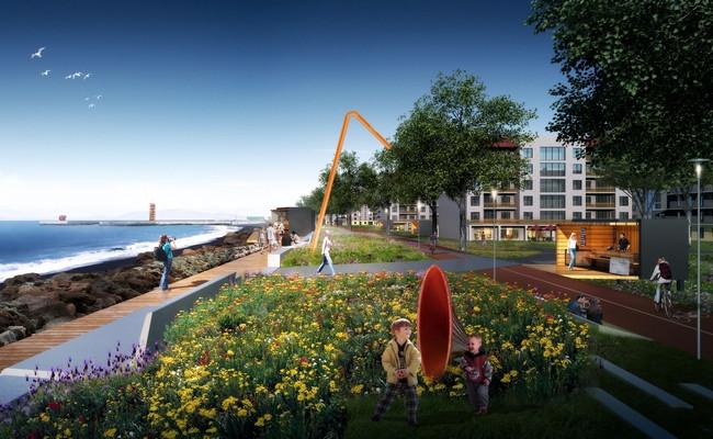 Функциональная зона «Высокий берег» новой набережной в Сочи