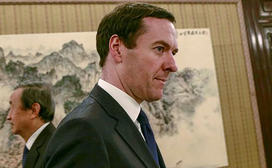 Министр финансов Британии Джордж Осборн передвстречей в рамках группы G20 в Шанхае