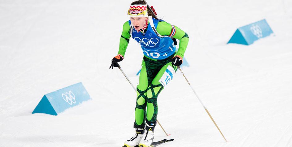 Сборная Белоруссии по биатлону выиграла эстафету на Олимпиаде