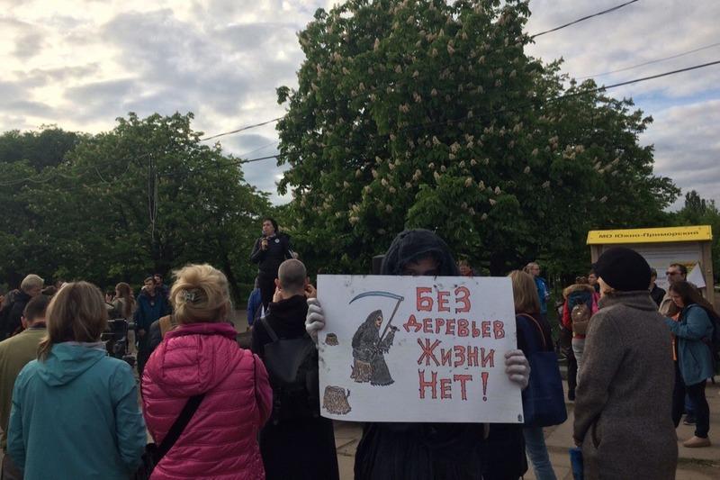 Митинг за сохранение Южно-Приморского парка 27 мая 2019 года