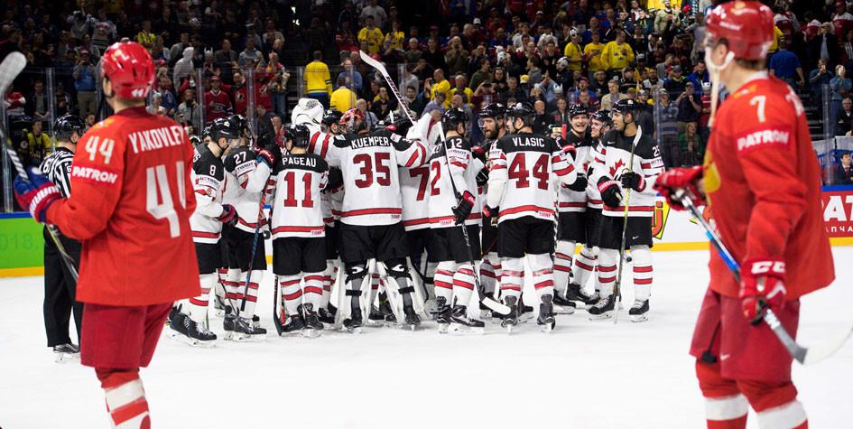 Сборная России по хоккею проиграла канадцам в овертайме