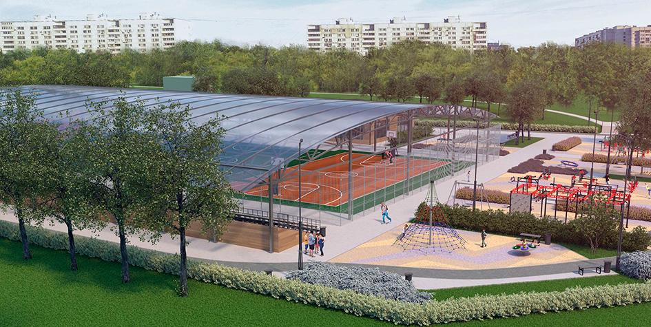 Проект спортивной площадки вЗябликово