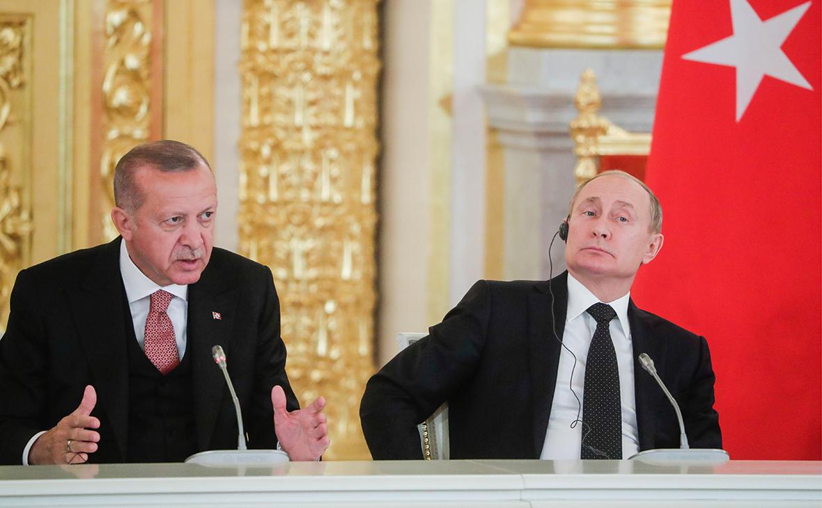 Реджеп Тайип Эрдоган и Владимир Путин (слева направо)