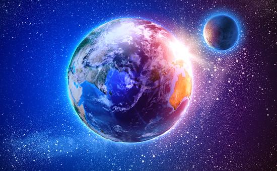 Земля и Луна, вид из космоса