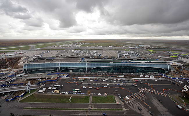 Вид напассажирский терминал аэропорта Домодедово