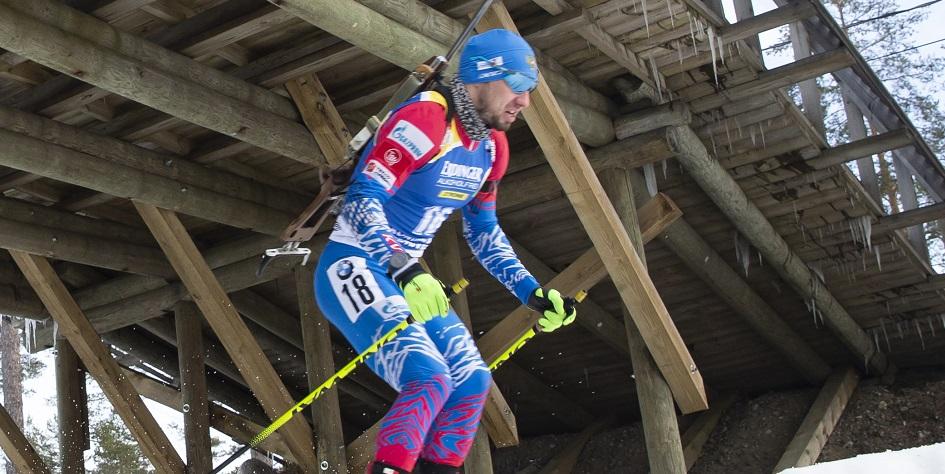 Биатлонист Александр Логинов на этапе Кубка мира в Финляндии
