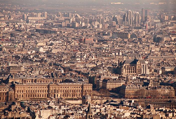 Панорама Парижа. Вид с башни Монпарнас