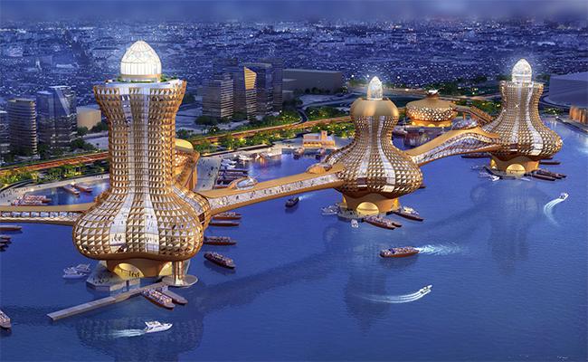 Общий вид проекта «Аладдин-Сити»