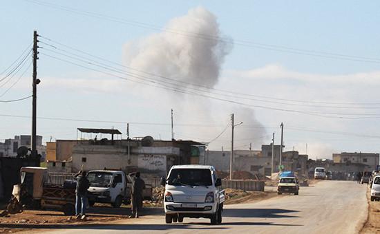 Город Серакаб вСирии, январь 2016 года