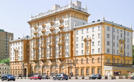 Здание посольства США вМоскве