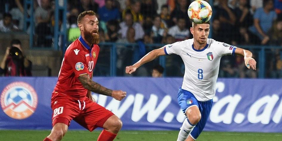Армянские футболисты в меньшинстве упустили ничью в матче против Италии