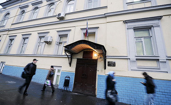 Здание Басманного районного суда на Каланчевской улице