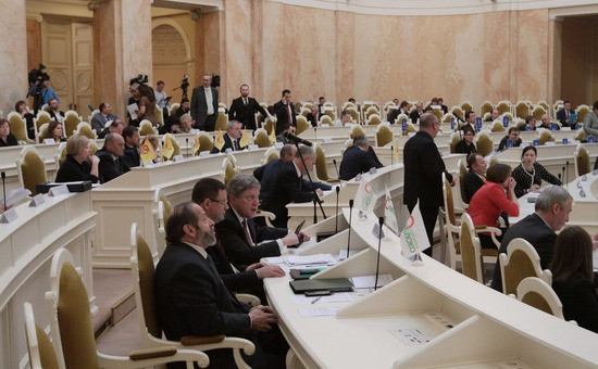 Заседание Законодательного собрания Петербурга