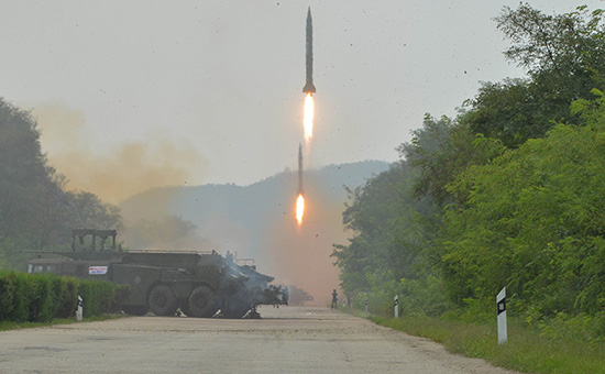 Запуск ракеты в Северной Корее. 6 сентября 2016 года