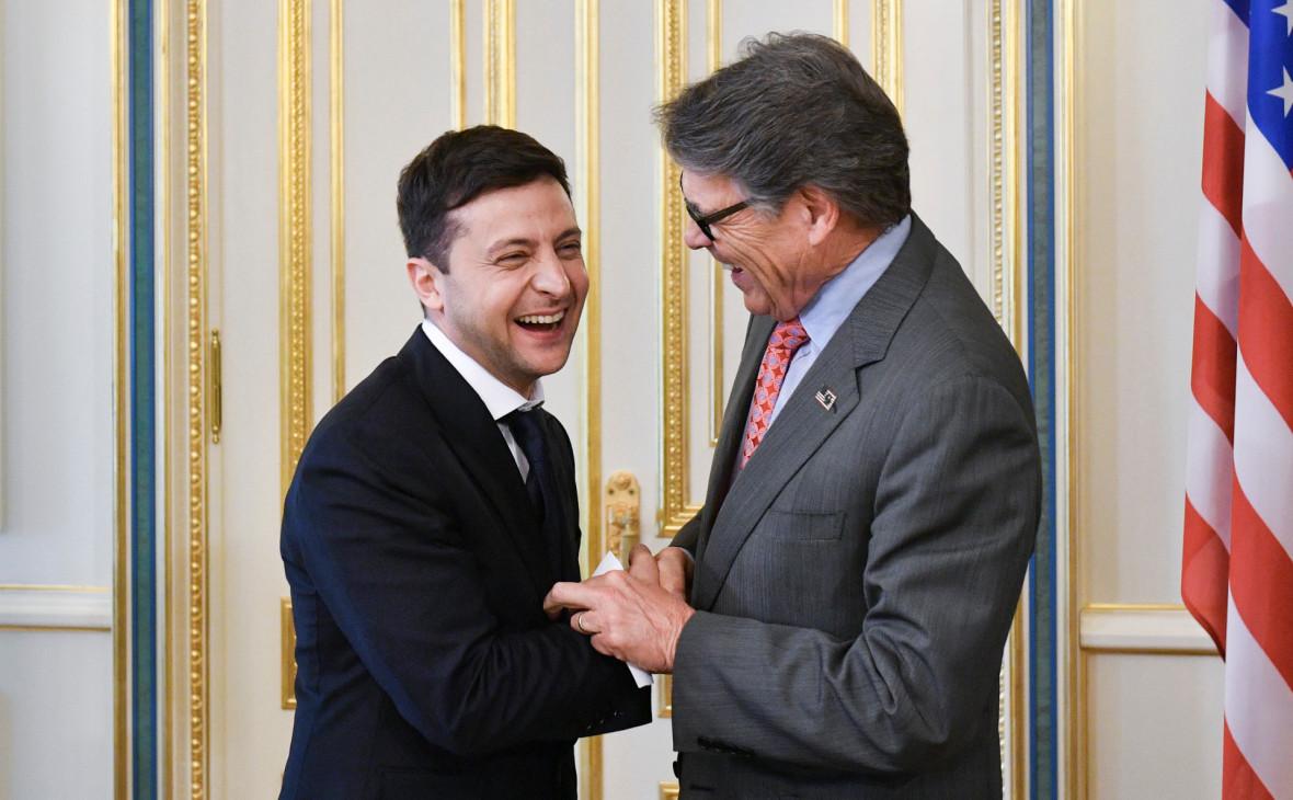 Владимир Зеленский (слева) и РикПерри