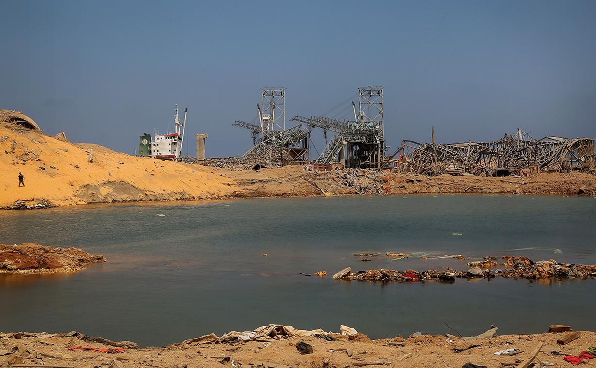 Разрушенный порт Бейрута, Ливан