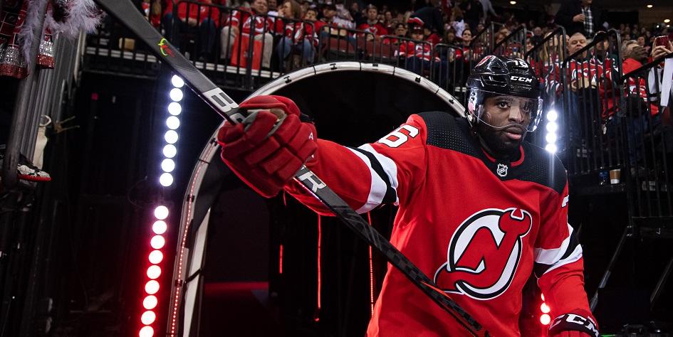 Защитник клуба НХЛ «Нью-Джерси Девилз» Пи-Кей Суббан