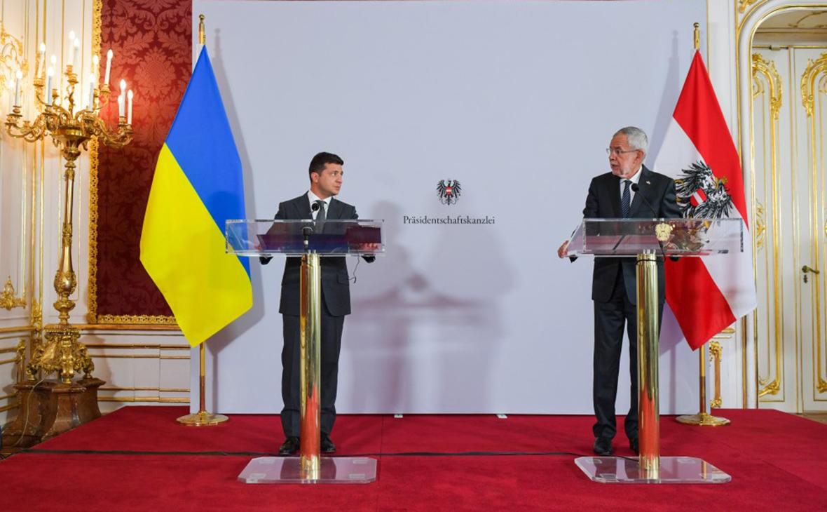 Владимир Зеленский и Александр Ван дер Беллен
