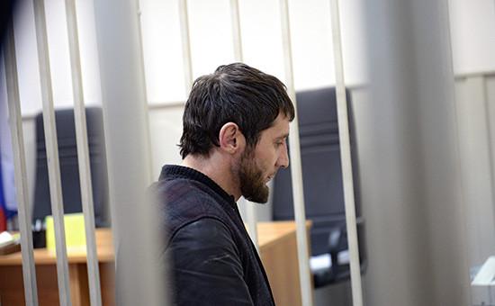 Один изобвиняемых в убийстве политика Бориса Немцова Заур Дадаев на заседании Басманного районного суда