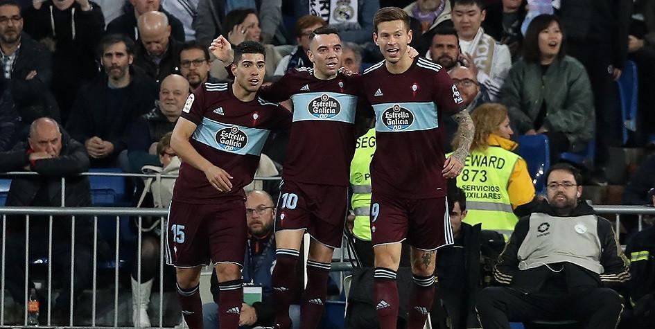 Федору Смолову (справа) и его партнерам по «Сельте» предстоит бороться за выживание в высшем дивизионе чемпионата Испании