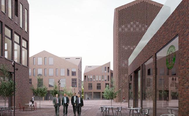 Визуализация центрального квартала Инновационного центра «Сколково» по проекту архитектурного бюро «Цимайло, Ляшенко & Партнеры»