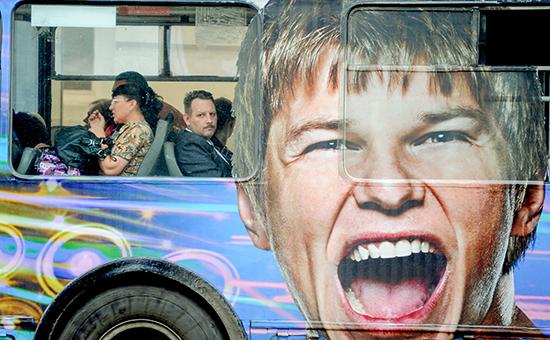 Реклама на московском автобусе
