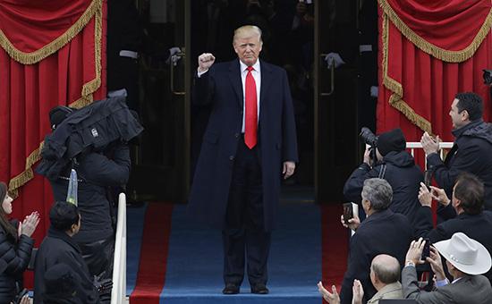Дональд Трампво время инаугурации