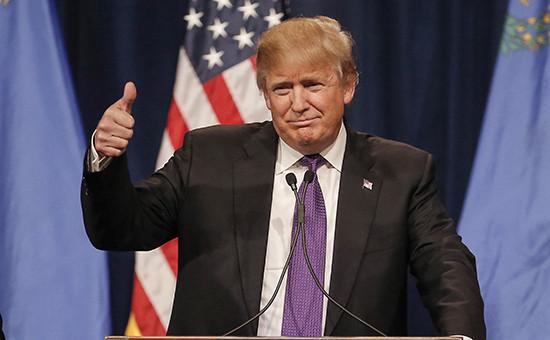 Кандидат отРеспубликанской партии США Дональд Трамп