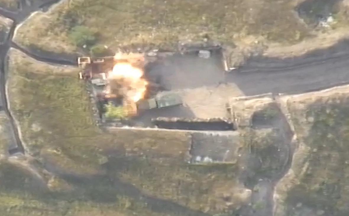 Удар по армянскому опорному пункту на участке азербайджано-армянской государственной границы в Товузском районе