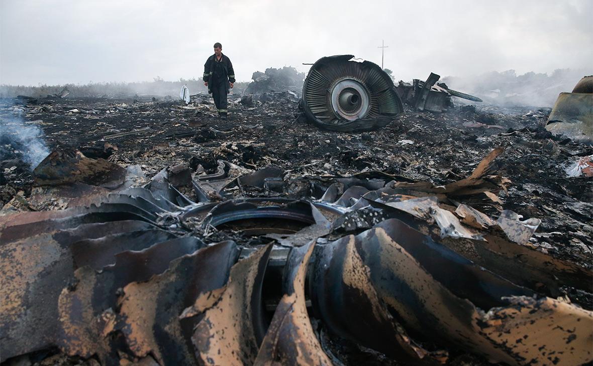 Обломки Boeing 777. 2014 год