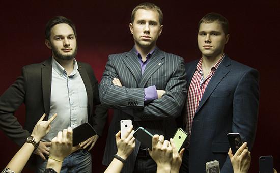 Основатели сервиса iSmashed Денис Пасечник, Сергей Варт и Александр Пасечник