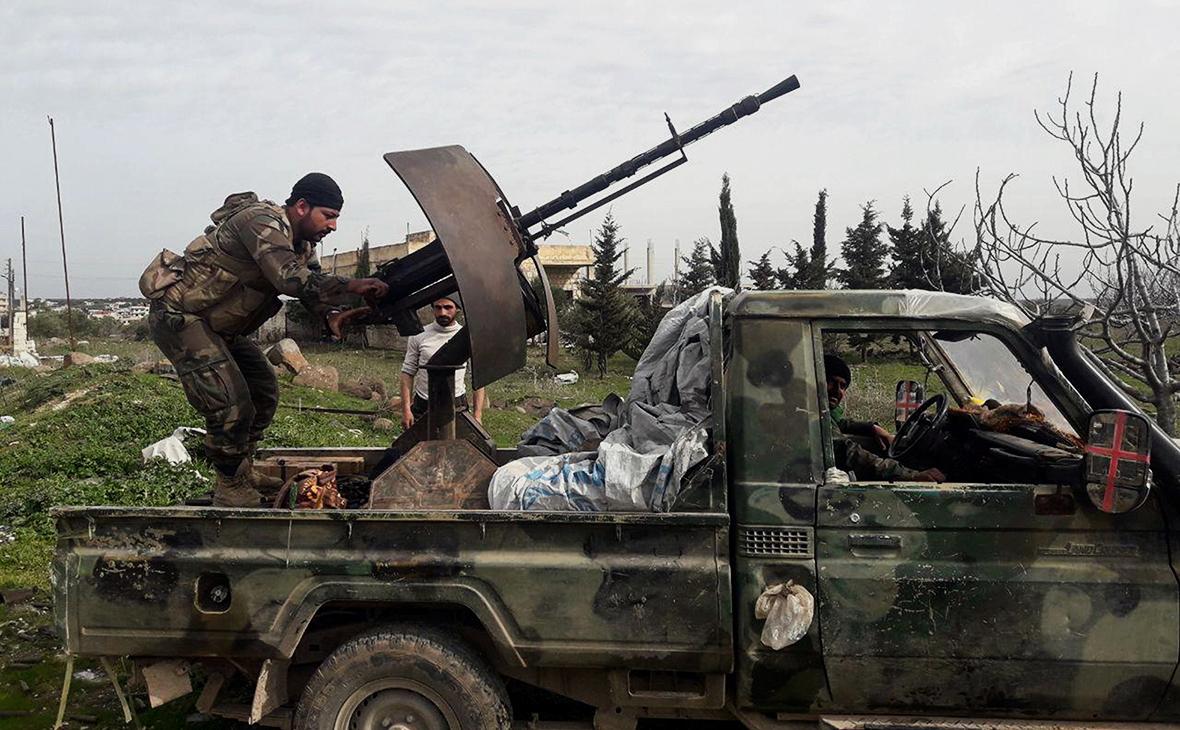 Солдаты Cирийской армии в Идлибе