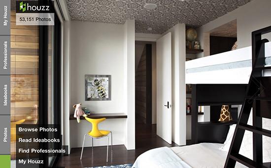 С помощью мобильного приложения Houzz можно найти дизайнеров и примеры  обустройства дома