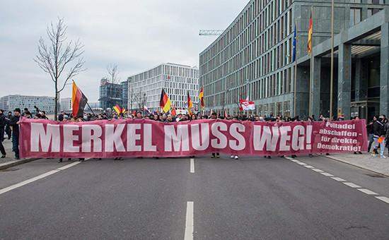 Марш ультраправых сил в Берлине, 12 марта 2016 года