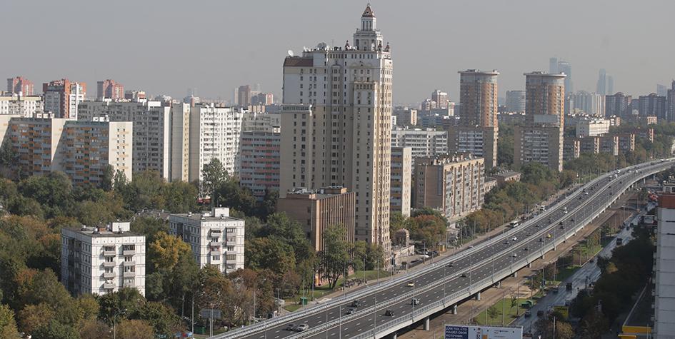 Эстакада на Можайском шоссе