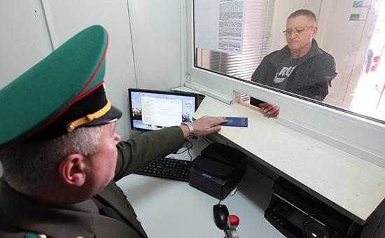 Сотрудник белорусской пограничной службы