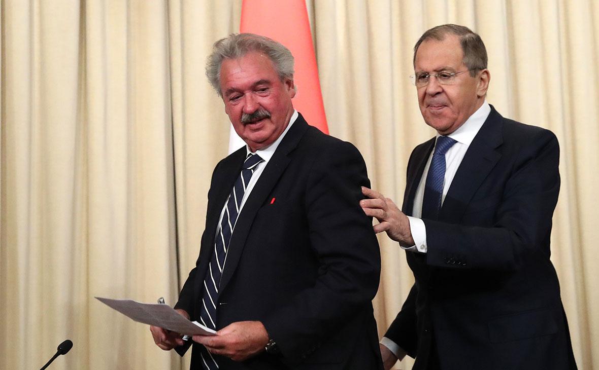 Жан Ассельборн и Сергей Лавров