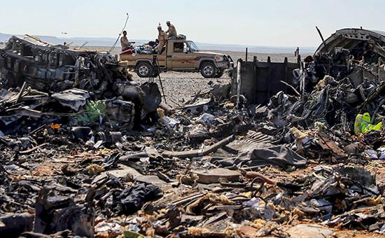 Место крушения самолета A321