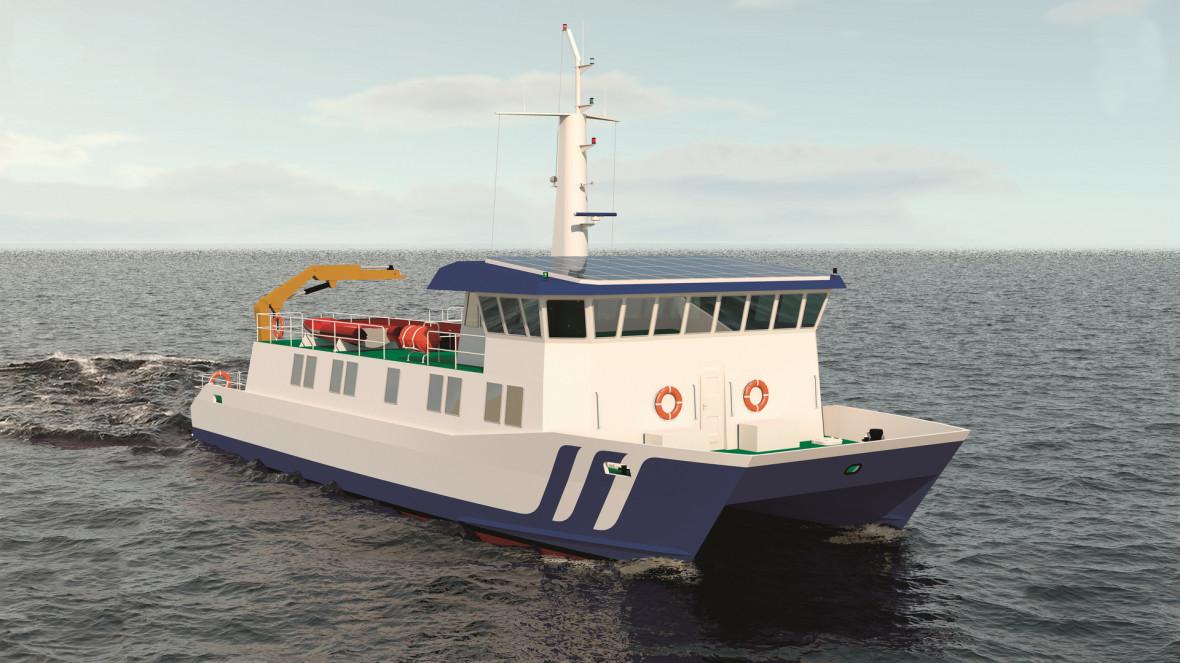 Эскиз научно-исследовательского судна «Пионер-М»