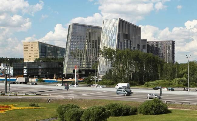 Проектное изображение гостинично-делового комплекса на пересечении МКАД и Рублево-Успенского шоссе