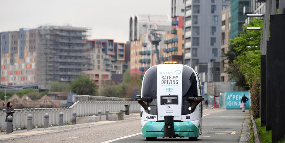 Испытания автономного городского транспорта, разработанного врамках проекта GATEway, начались 2017 году вЛондоне