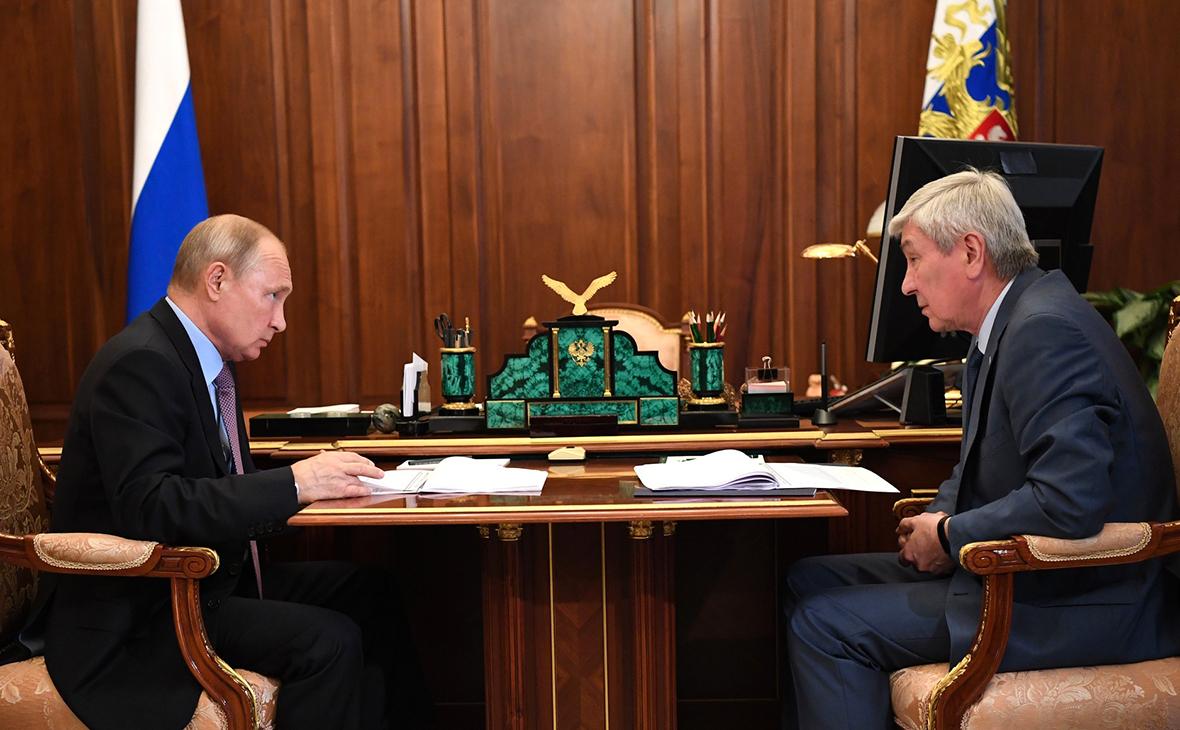 Встреча Владимира Путина с директором Федеральной службы по финансовому мониторингу Юрием Чиханчиным