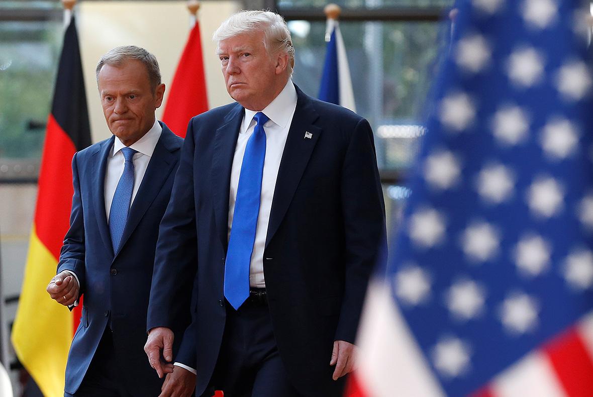 Дональд Туск и Дональд Трамп
