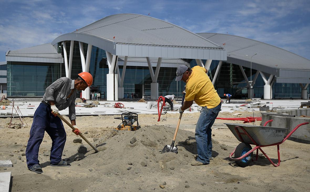 Строительство аэропорта «Платов». Август 2017 года