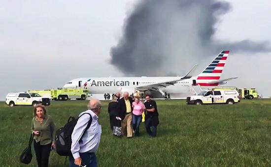 Boeing 767 в аэропорту О'Хара, Чикаго, США