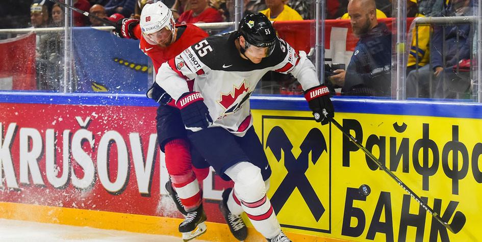Канадские хоккеисты проиграли Швейцарии в полуфинале чемпионата мира