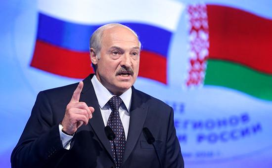Президент Белоруссии Александр Лукашенко во время пленарного заседания III Форума регионов России и Белоруссии